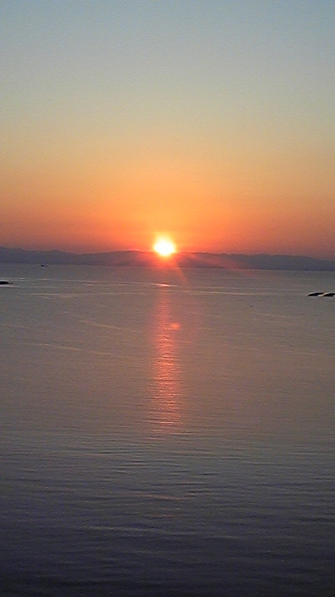スパタラソの夕日
